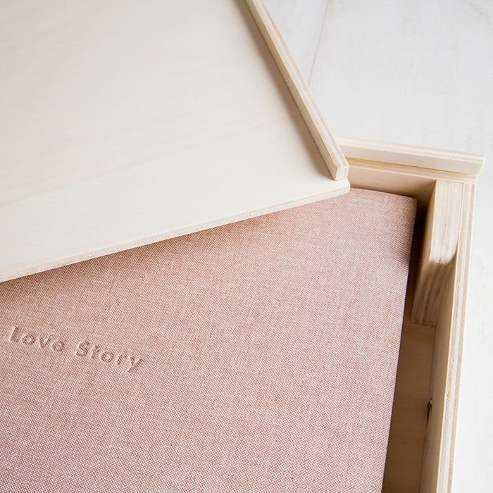 Caja madera natural detalle 1